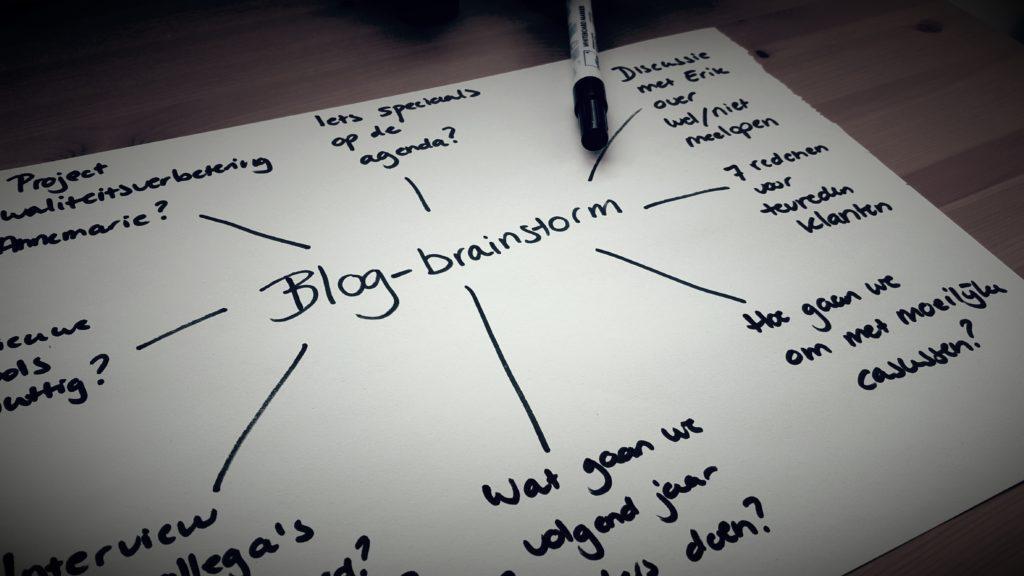 Brainstorm onderwerp zakelijke blog